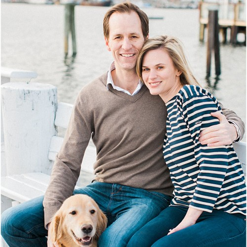 Winter E-session in Newport | Renée + Zach