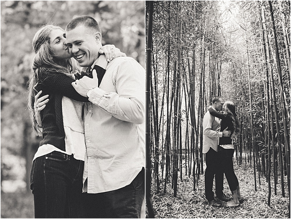 couple in bamboo forest