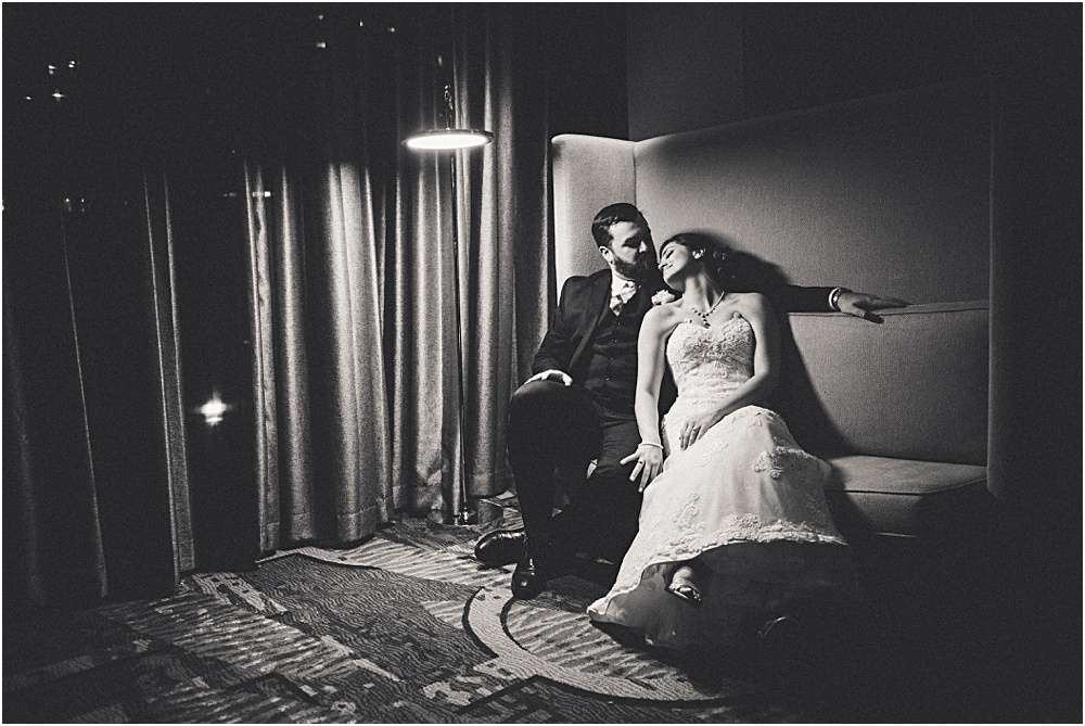 bride and groom in lounge